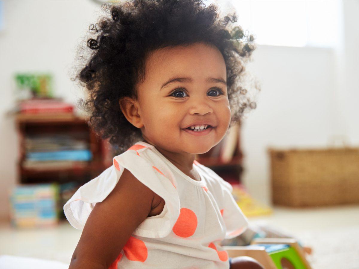 Cute toddler smiling