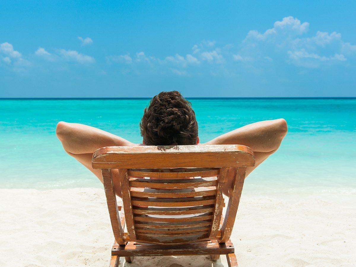Medical trivia questions - man on beach
