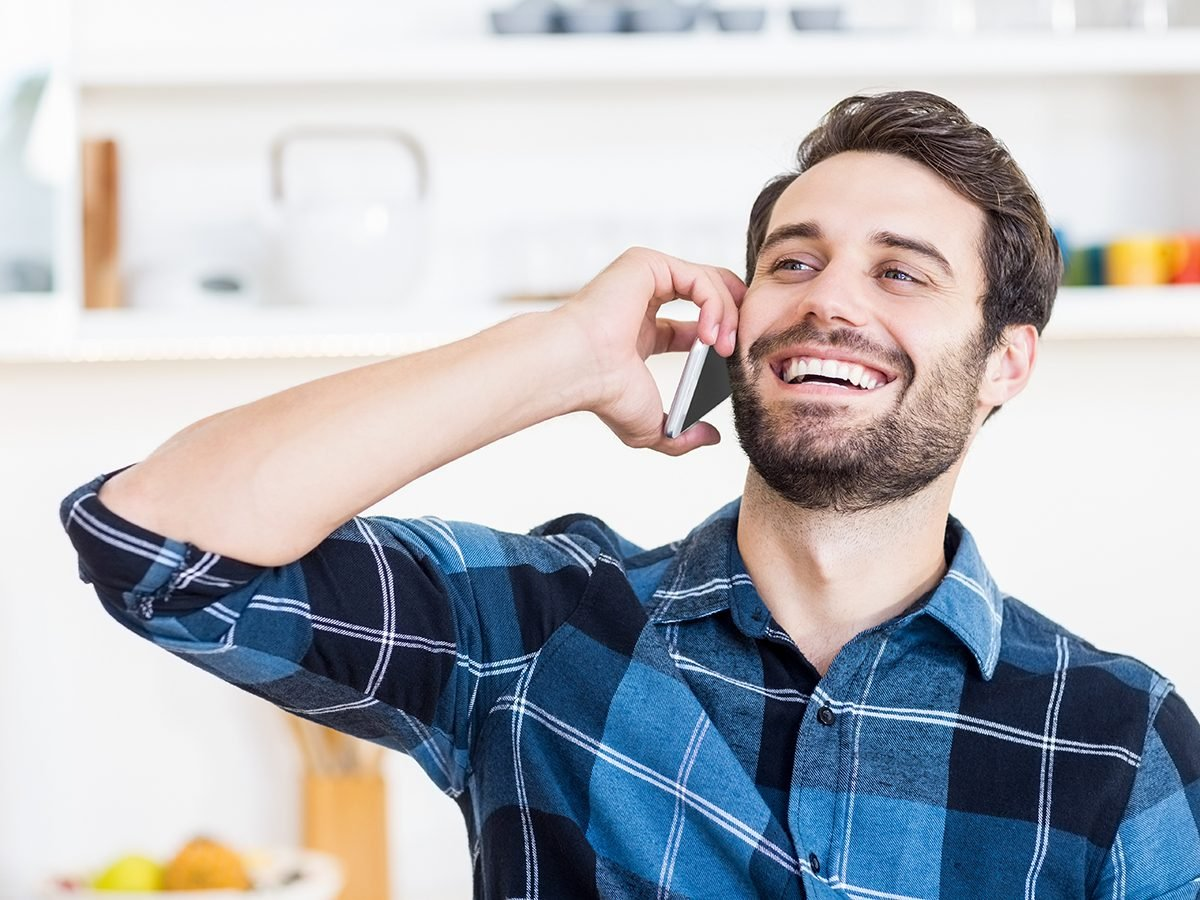Medical trivia questions - man talking on phone