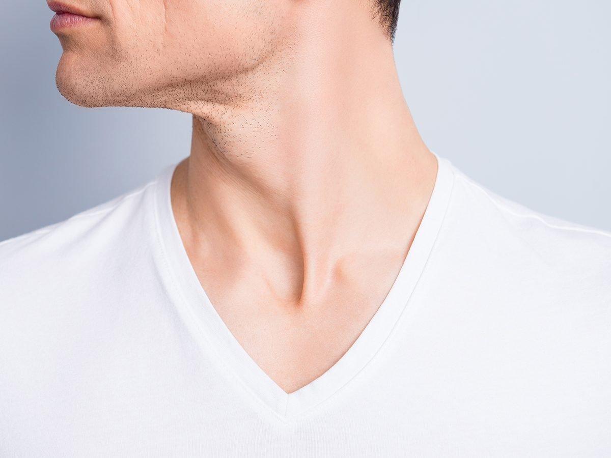 Medical trivia questions - man's neck