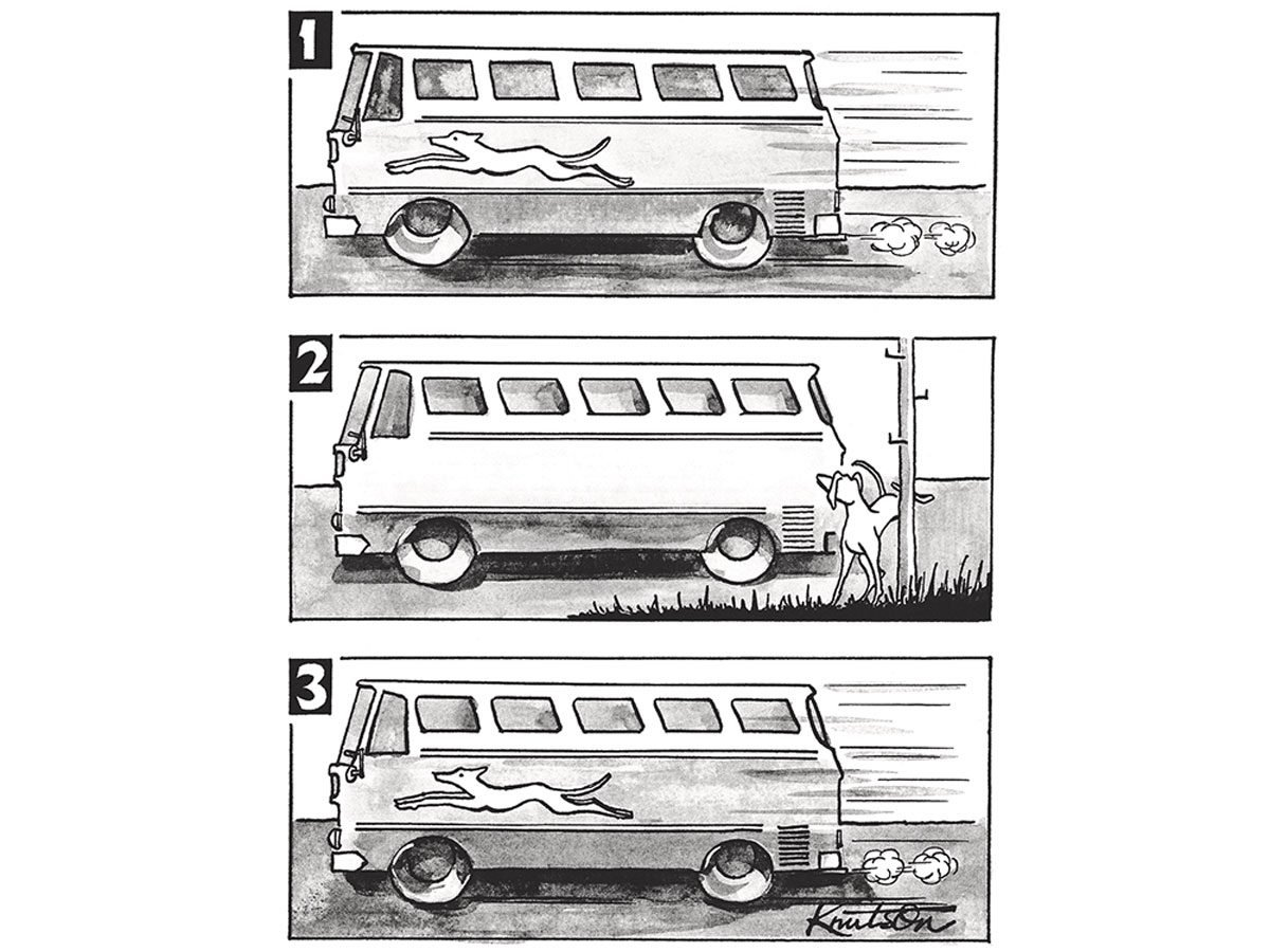 This Retired Bus Driver Draws Hilarious Cartoons Based on His Experiences