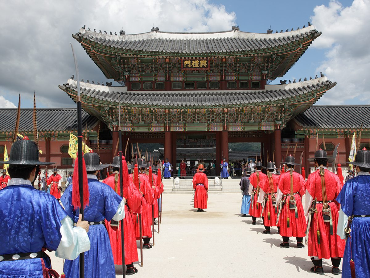 Royal parade at Palace in Seoul, Korea