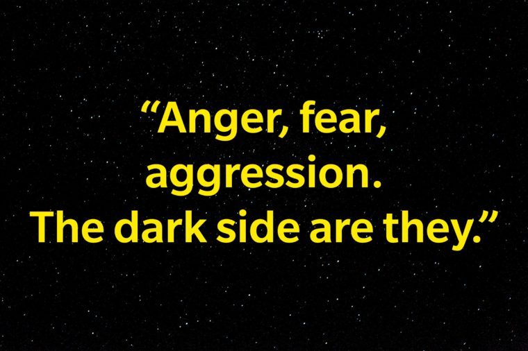 """Anger, fear, aggression. The dark side are they."""