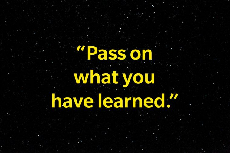 """Pass on what you have learned."""