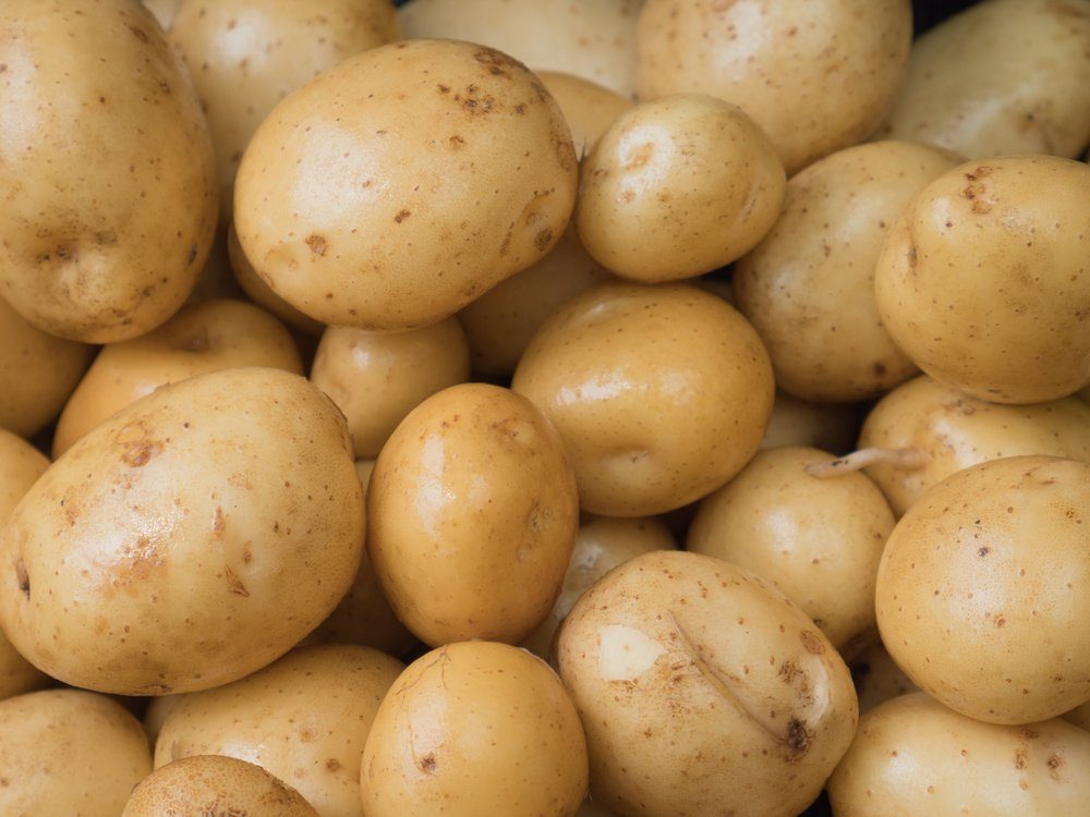 Potatoes close-up