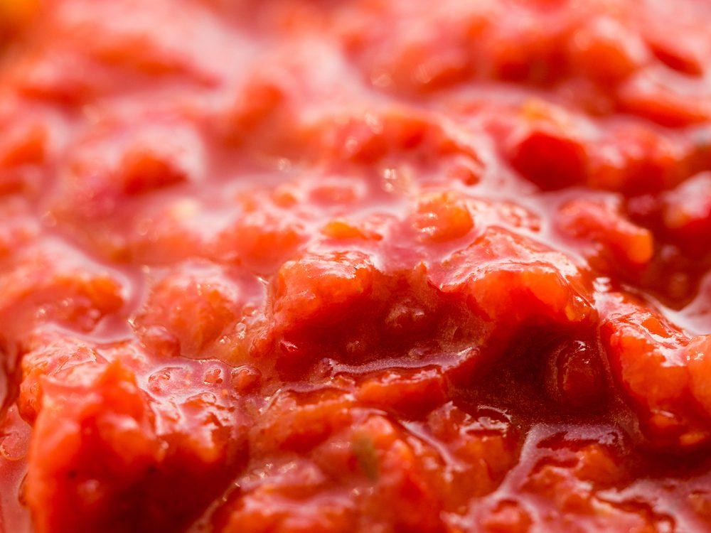 Hot sauce adjika close up