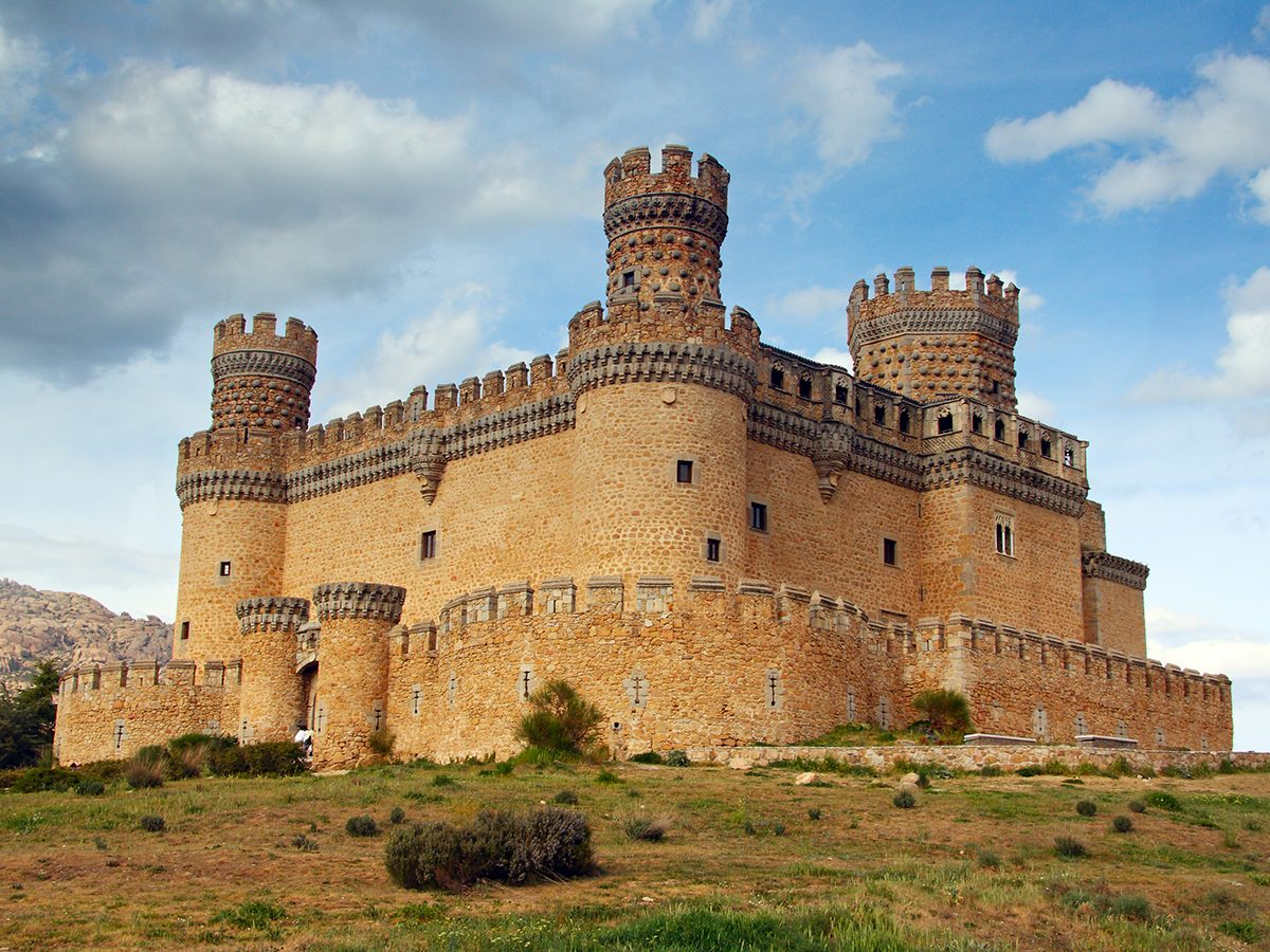 Spain castle battlement