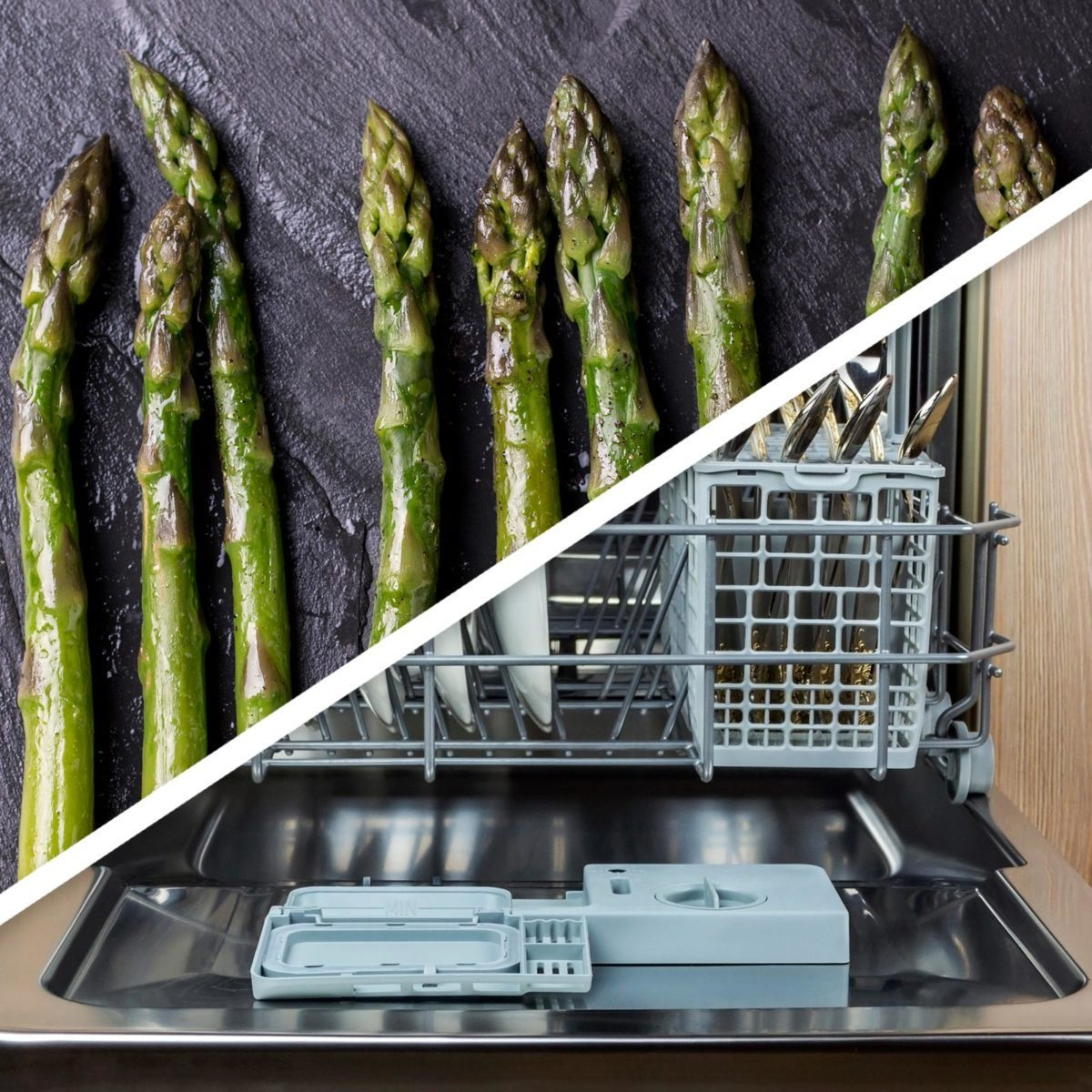 Steamed veggies and dishwasher