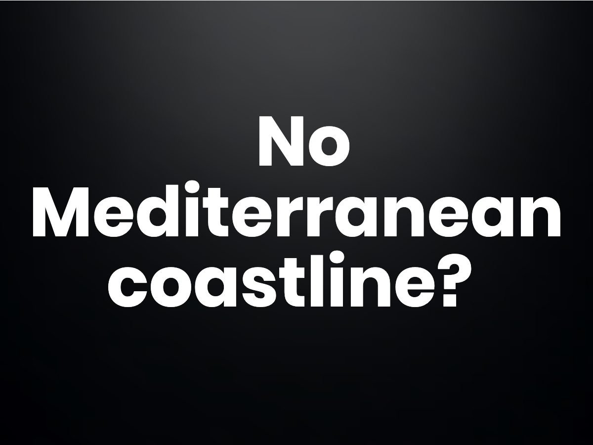 Trivia question - southern most country in Europe without a Mediterranean coastline