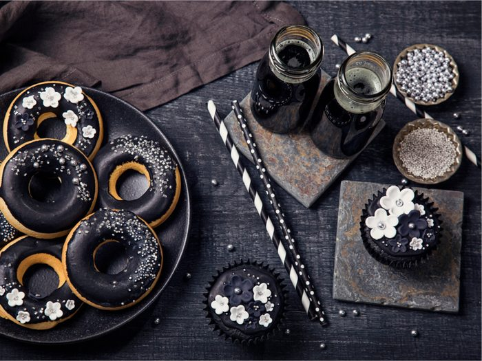 Baked goods made from activated charcoal