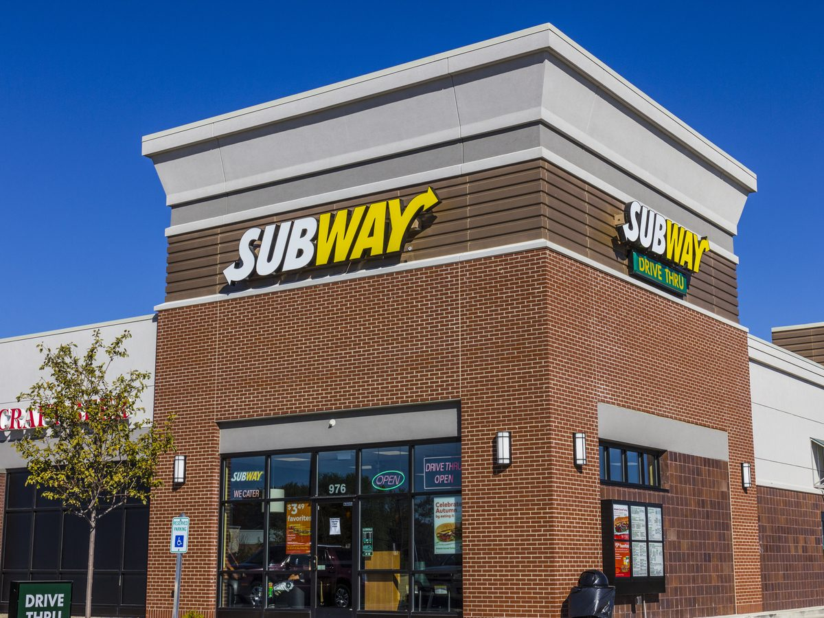 "Storefront of ""Subway"" restaurant"