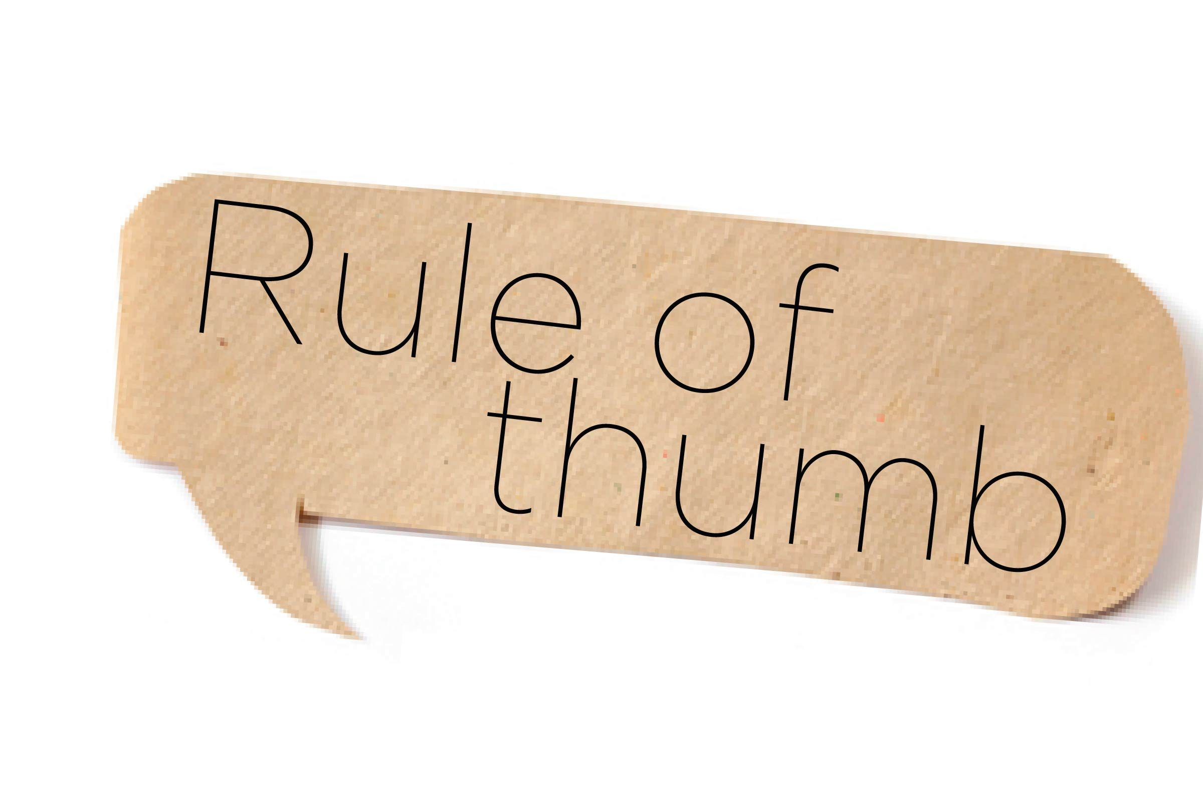Offensive words - Rule of thumb