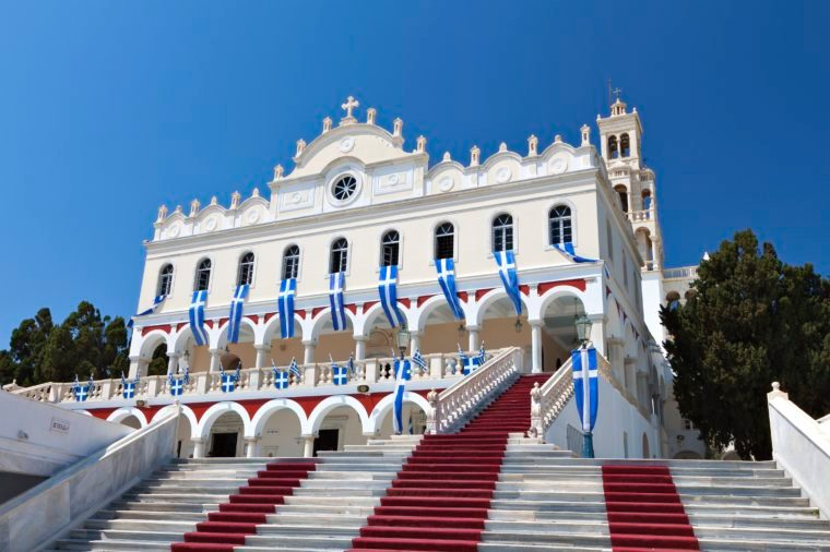 f Panagia Evangelistria at Tinos island in Greece
