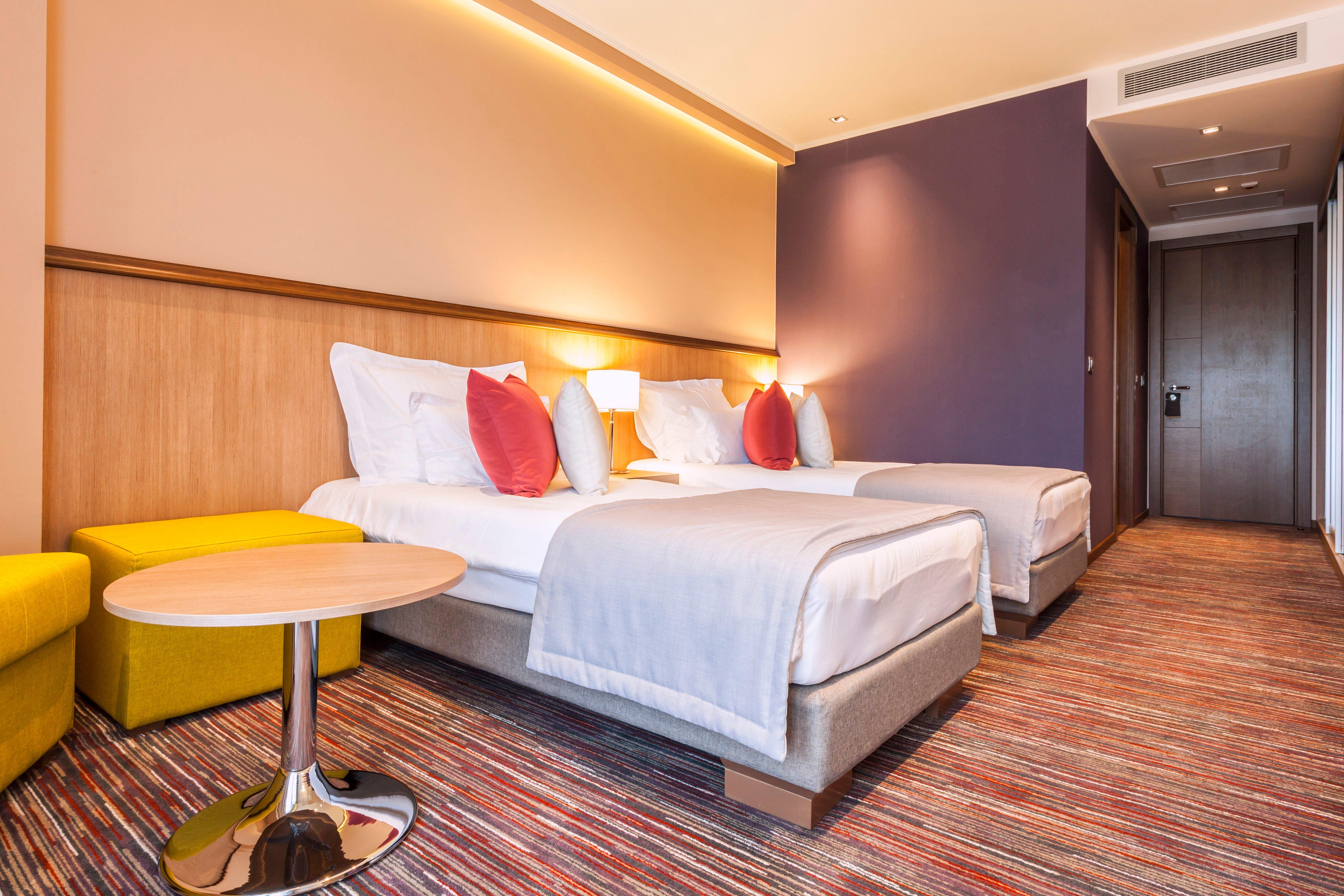 Colourful hotel room