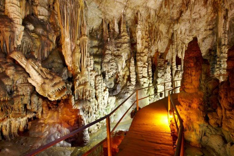 Dikteon cave. birth place of Zeus Crete. Greece