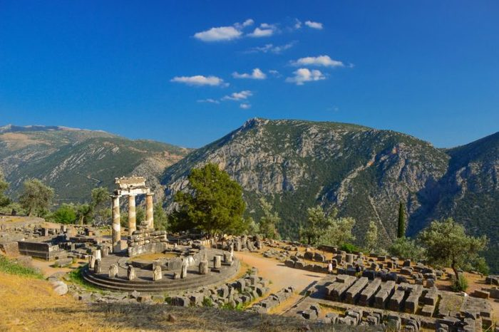 Oracle of Delphi in Greece