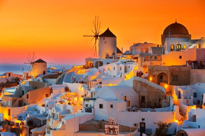 santorini greece romance