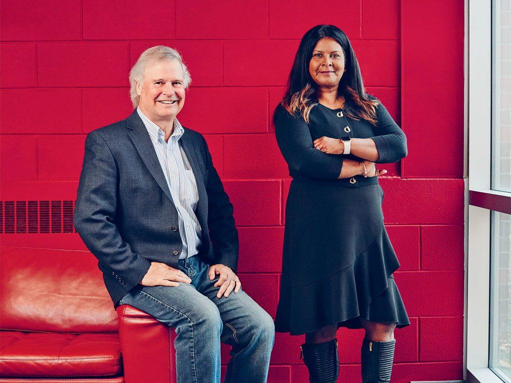 Tom Gibson and Pramilla Ramdahani