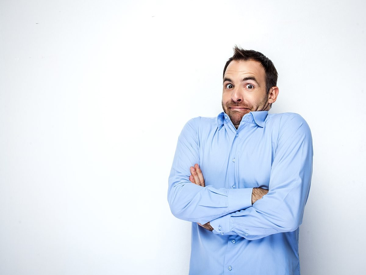 Funniest Readers Digest Jokes - Man Shrugging Shoulders