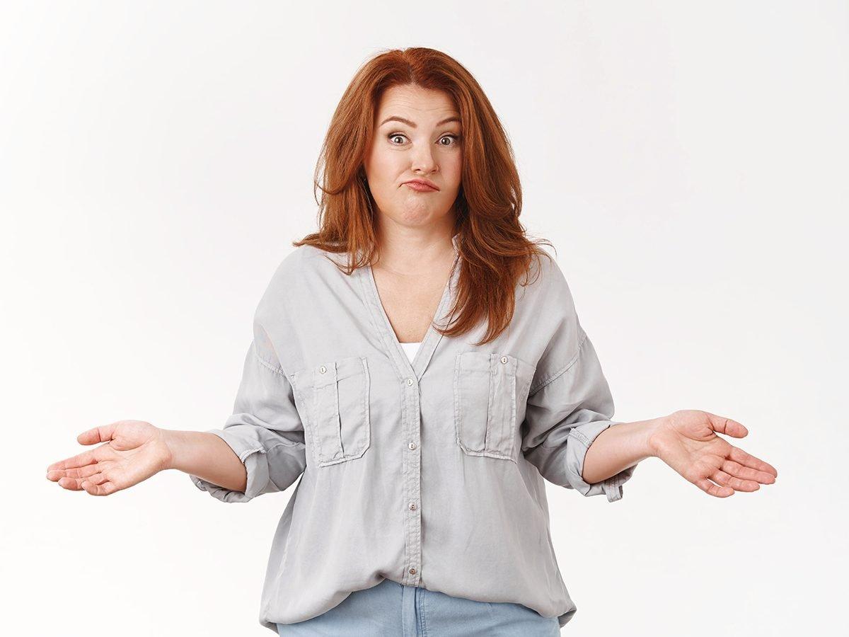 Funniest Readers Digest Jokes - Woman Shrugging