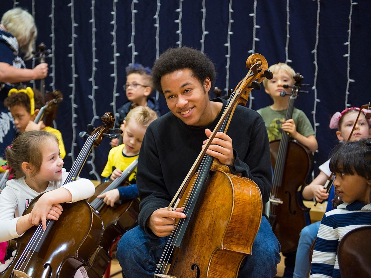 Good news - Sheku Kanneh-Mason playing cello