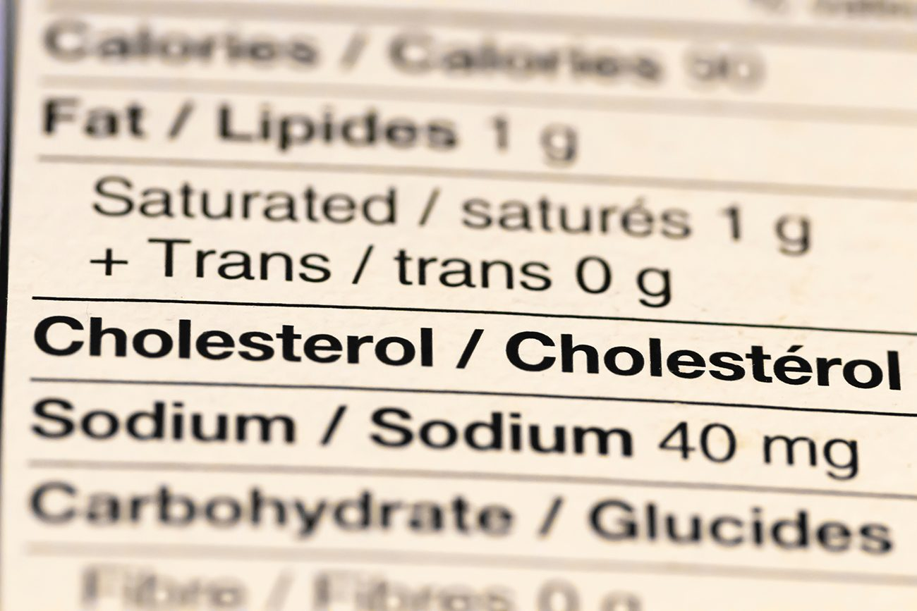 How to read nutrition label Canada - cholesterol