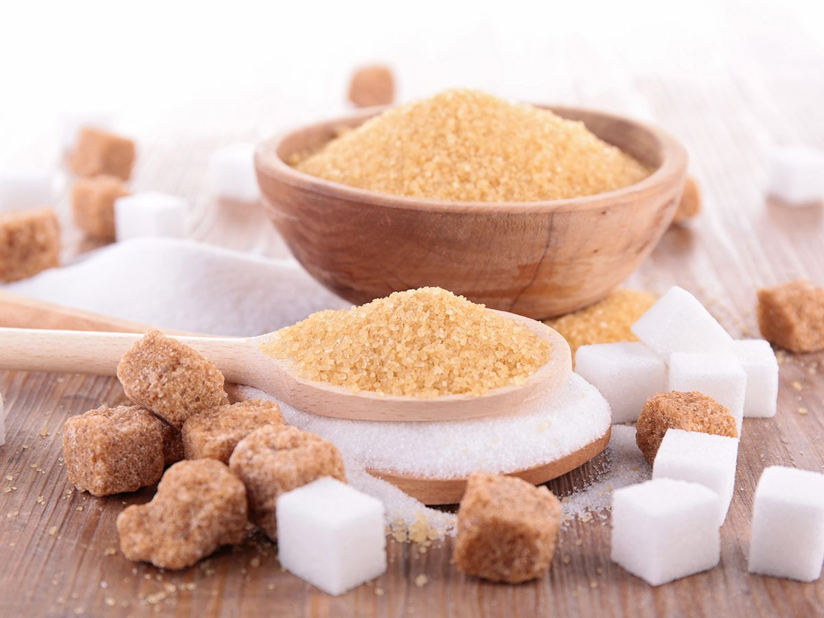 How to read nutrition labels Canada - white sugar and brown sugar