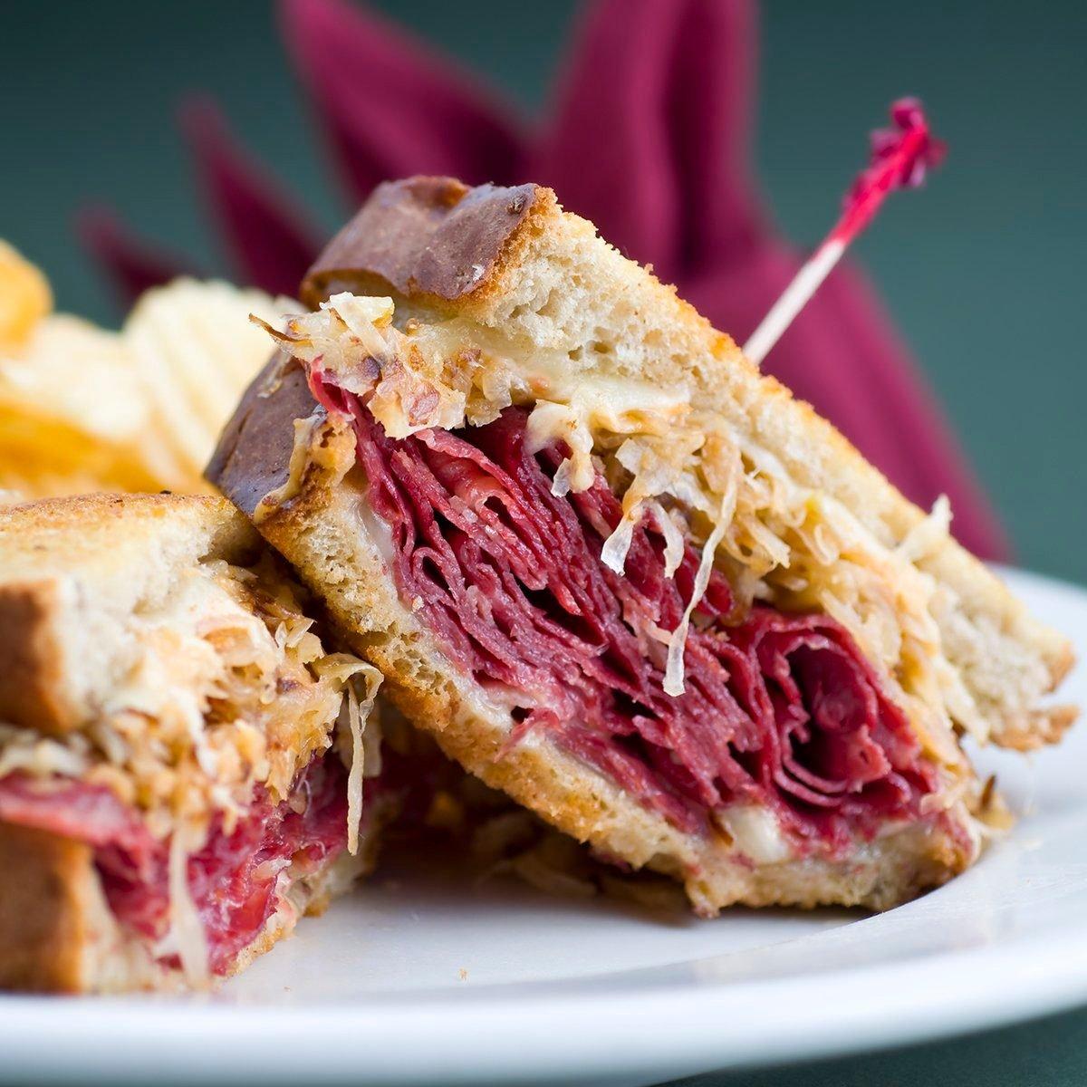 Classic Reuben Sandwich.