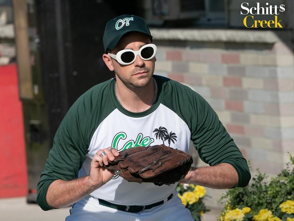 Funny Schitt's Creek quotes - David playing baseball