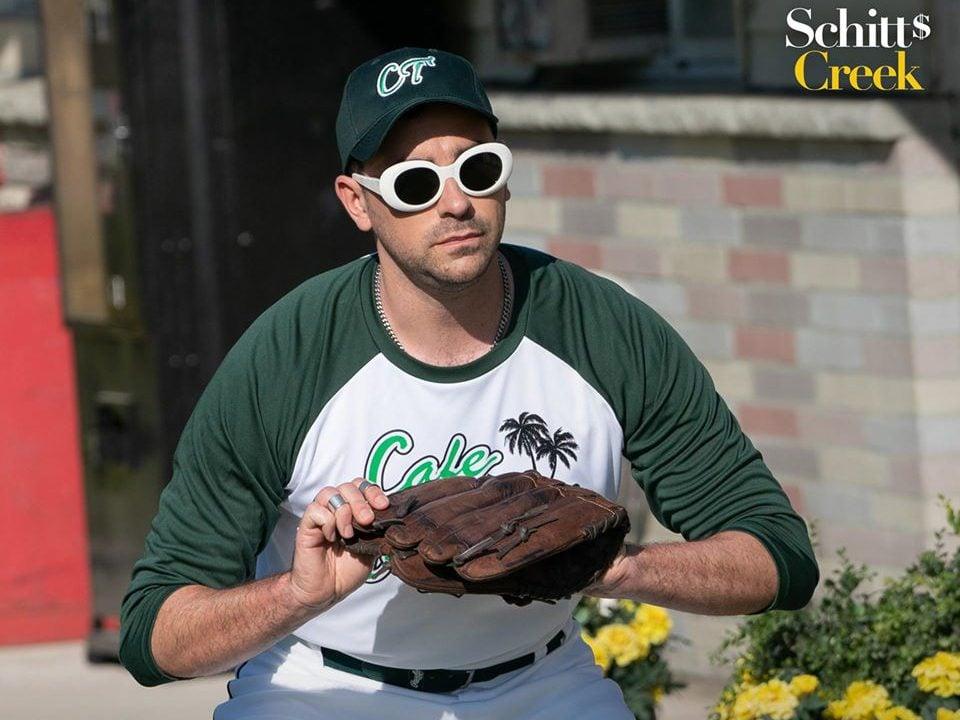 Funny Schitt's Creek quotes - David playing baseball