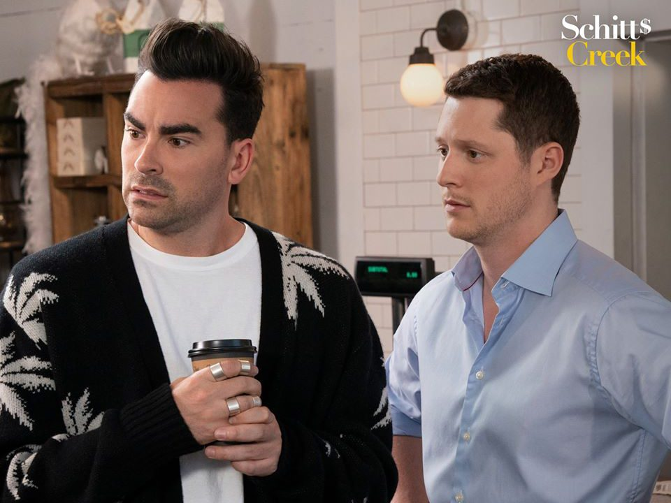 Schitt's Creek quotes - David and Patrick in Rose Apothecary