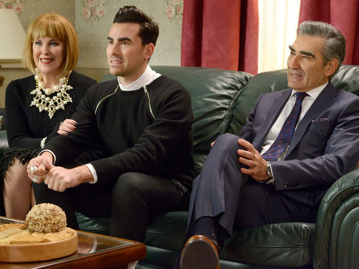 Schitt's Creek quotes - Moira, David and Johnny Rose