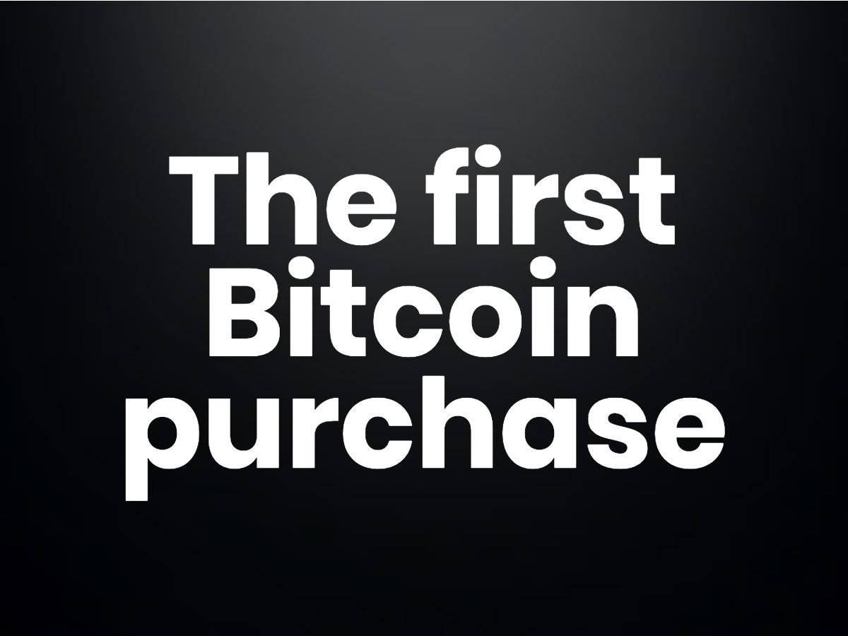 Trivia questions - The first Bitcoin purchase