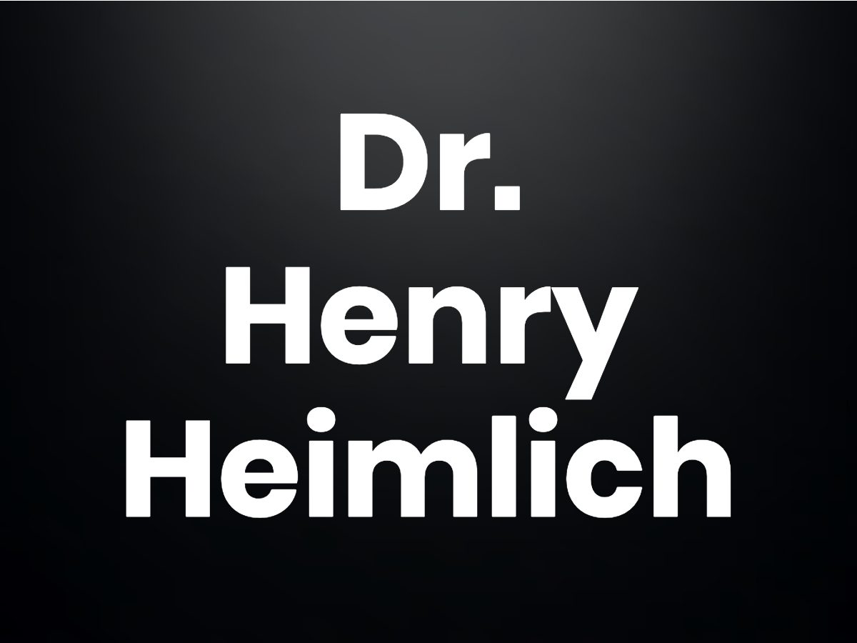 Trivia questions - Dr. Henry Heimlich