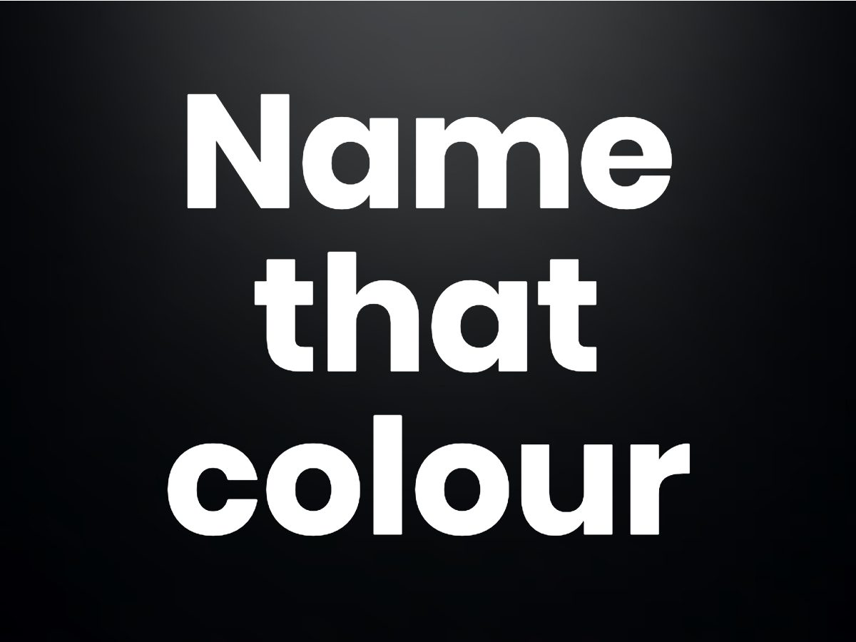 Trivia questions - Name that colour