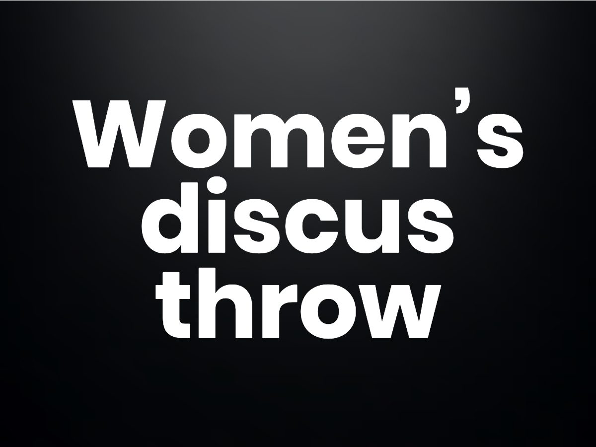 Trivia questions - Women's discus throw, which uses a lighter disc