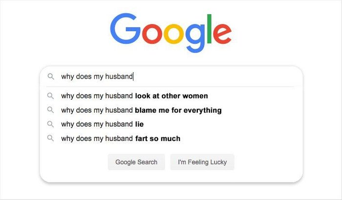 google search bar with auto fill suggestions