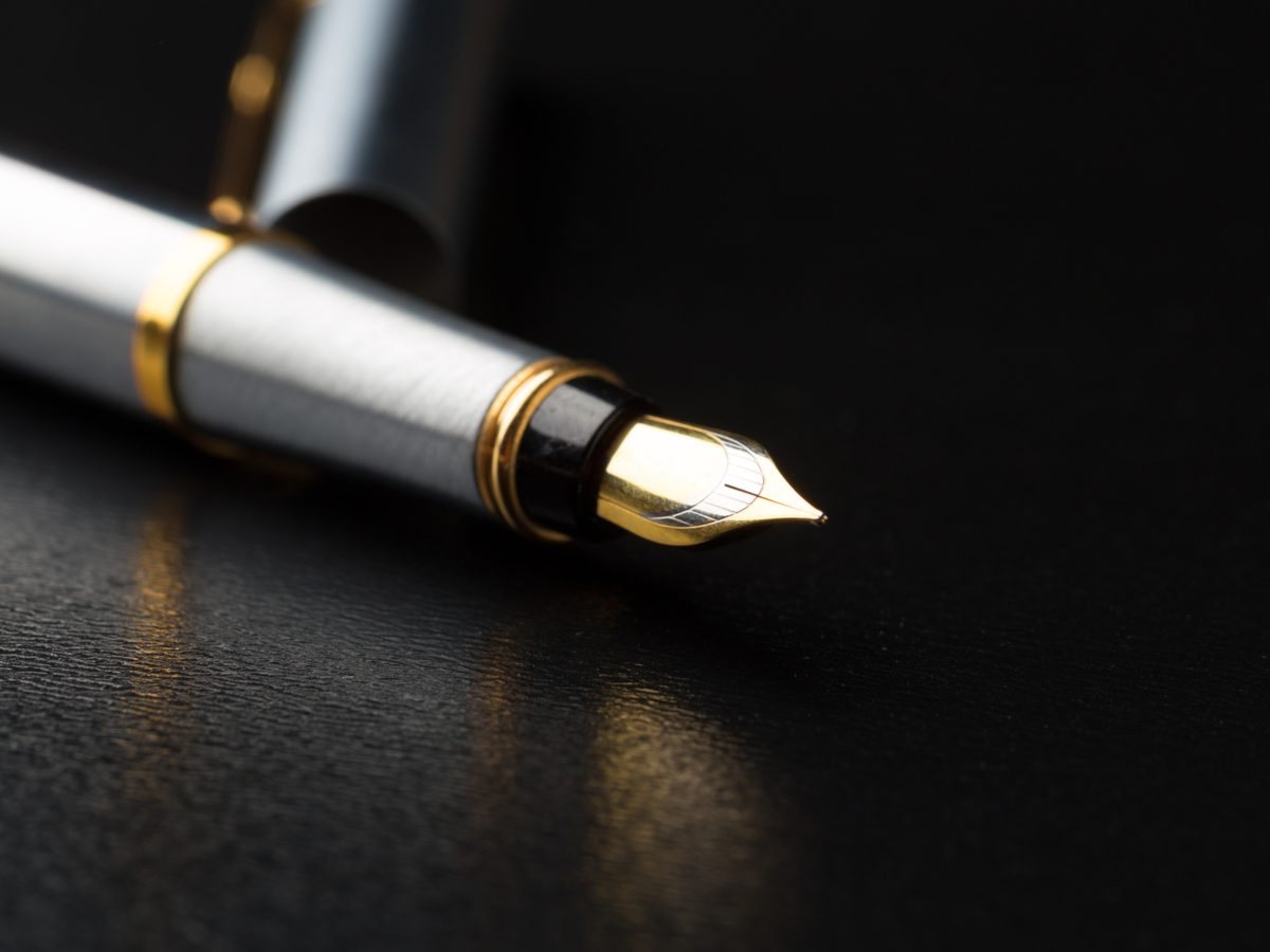 Close-up of fountain pen