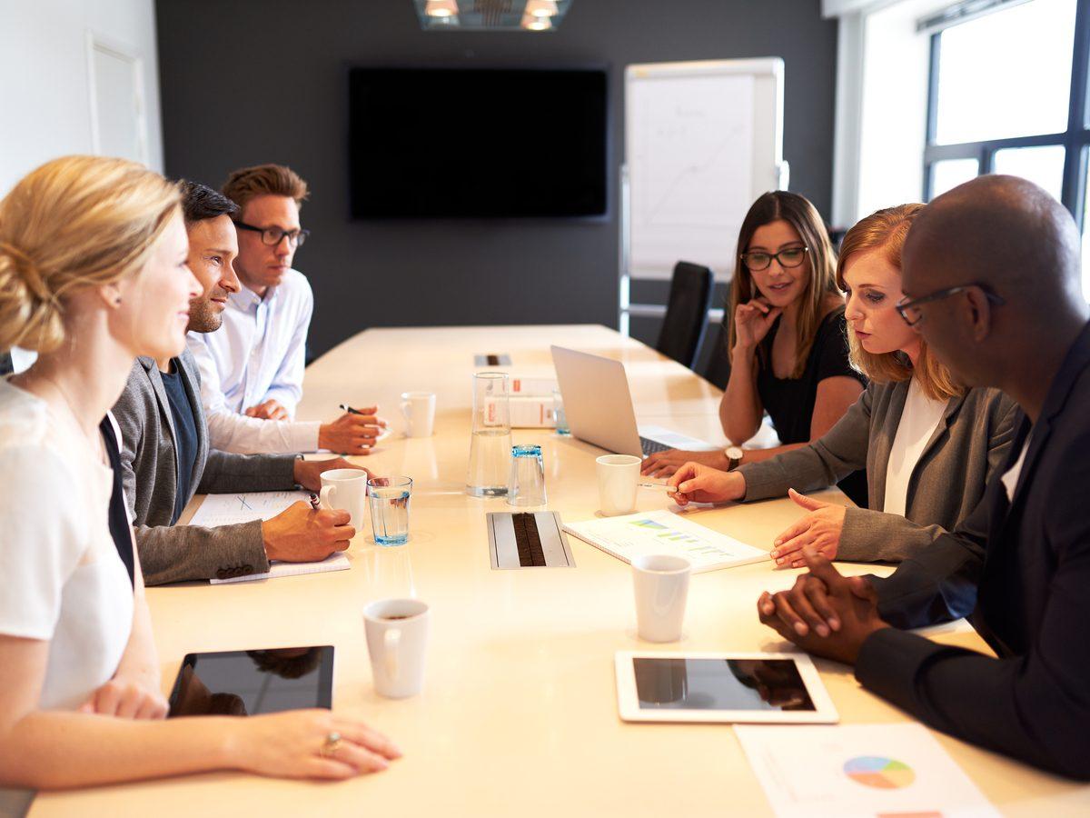 Youthful work meeting