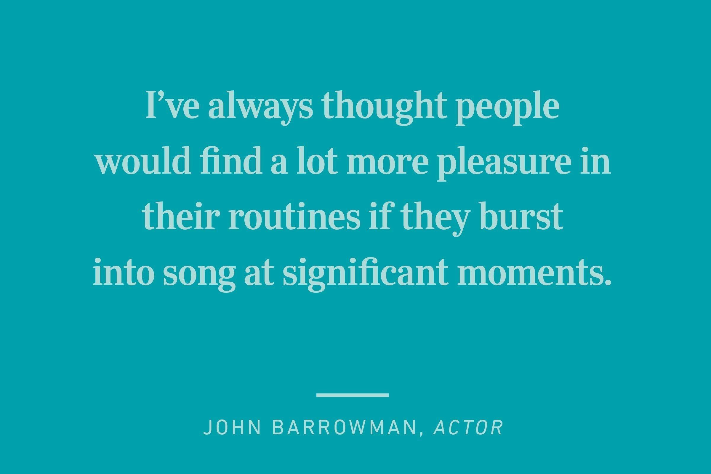 ohn barrowman happiness quote