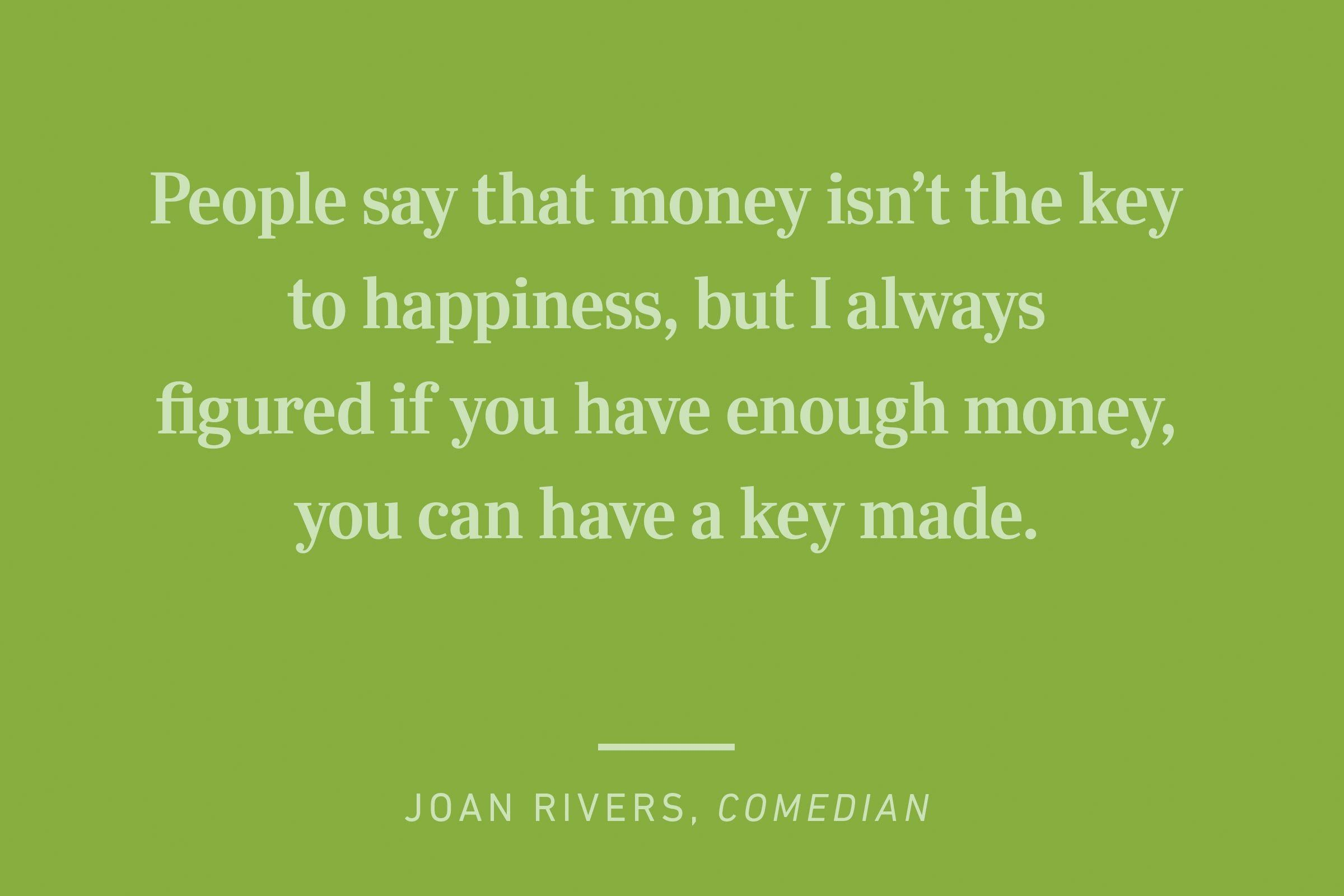 joan rivers happiness quote