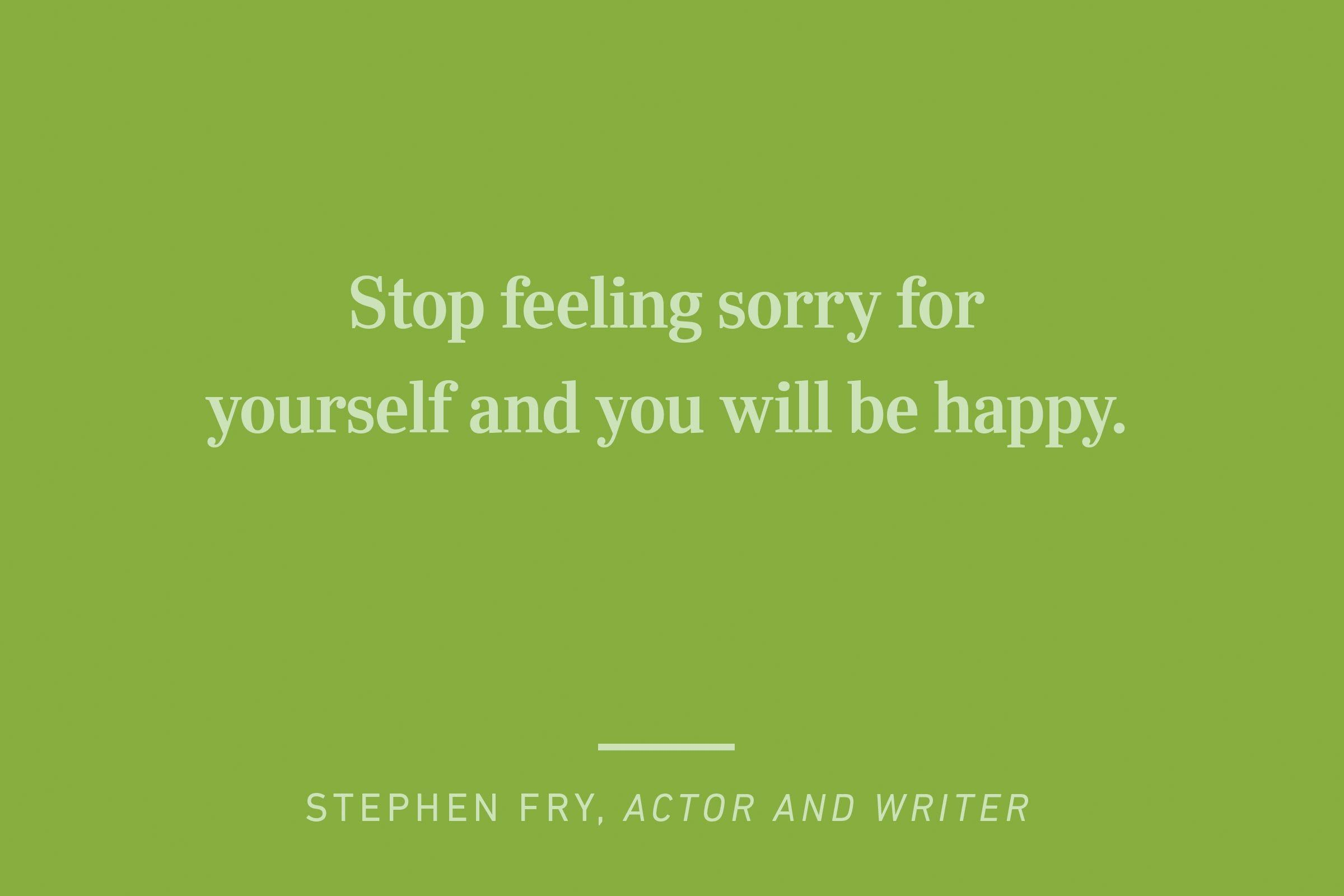 stephen fry happiness quote
