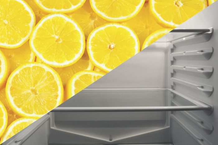 things to clean with lemons fridge inside