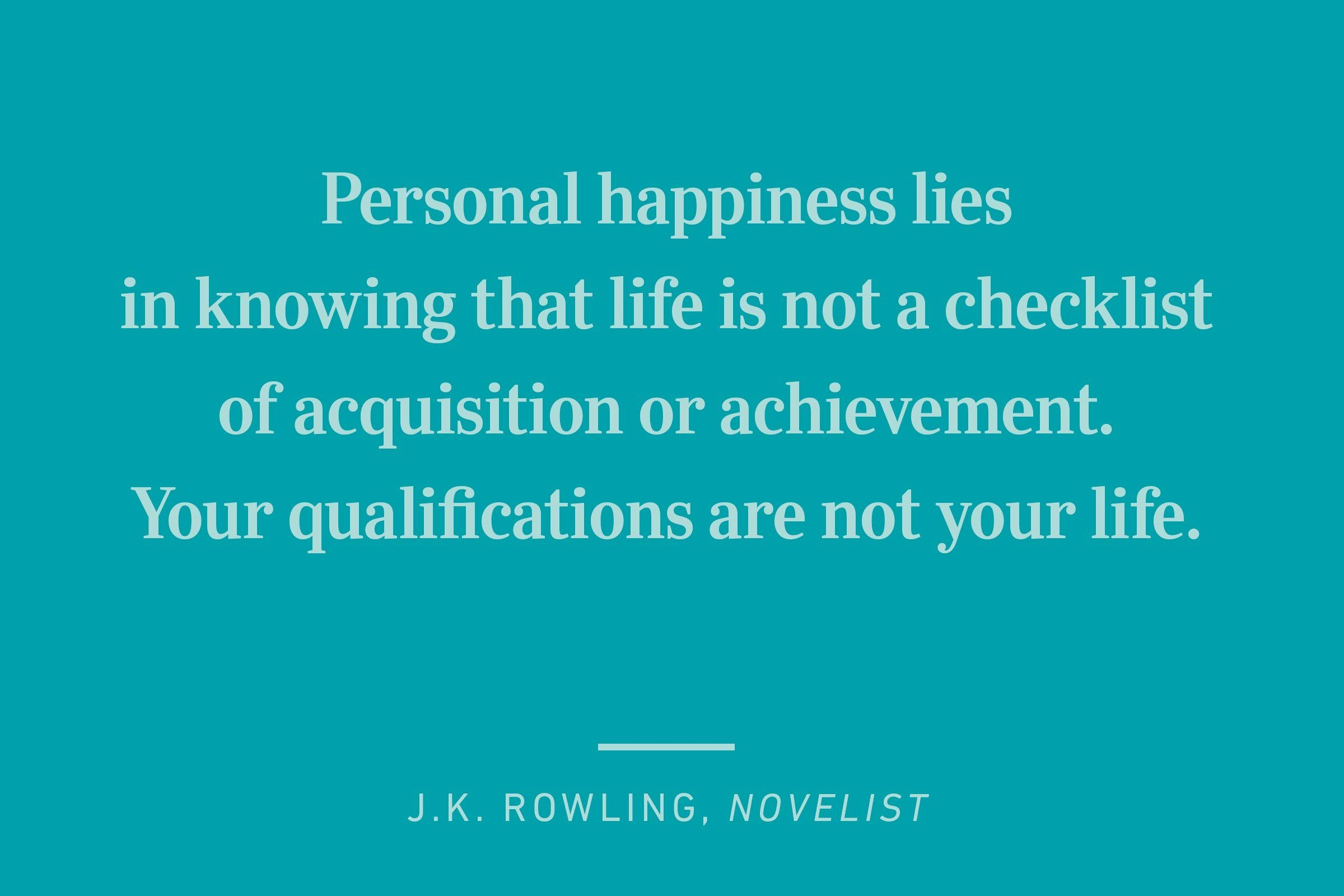 jk rowling happiness quote