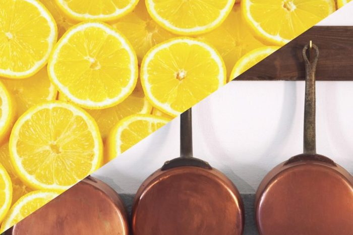 things to clean with lemons copper bottom pots