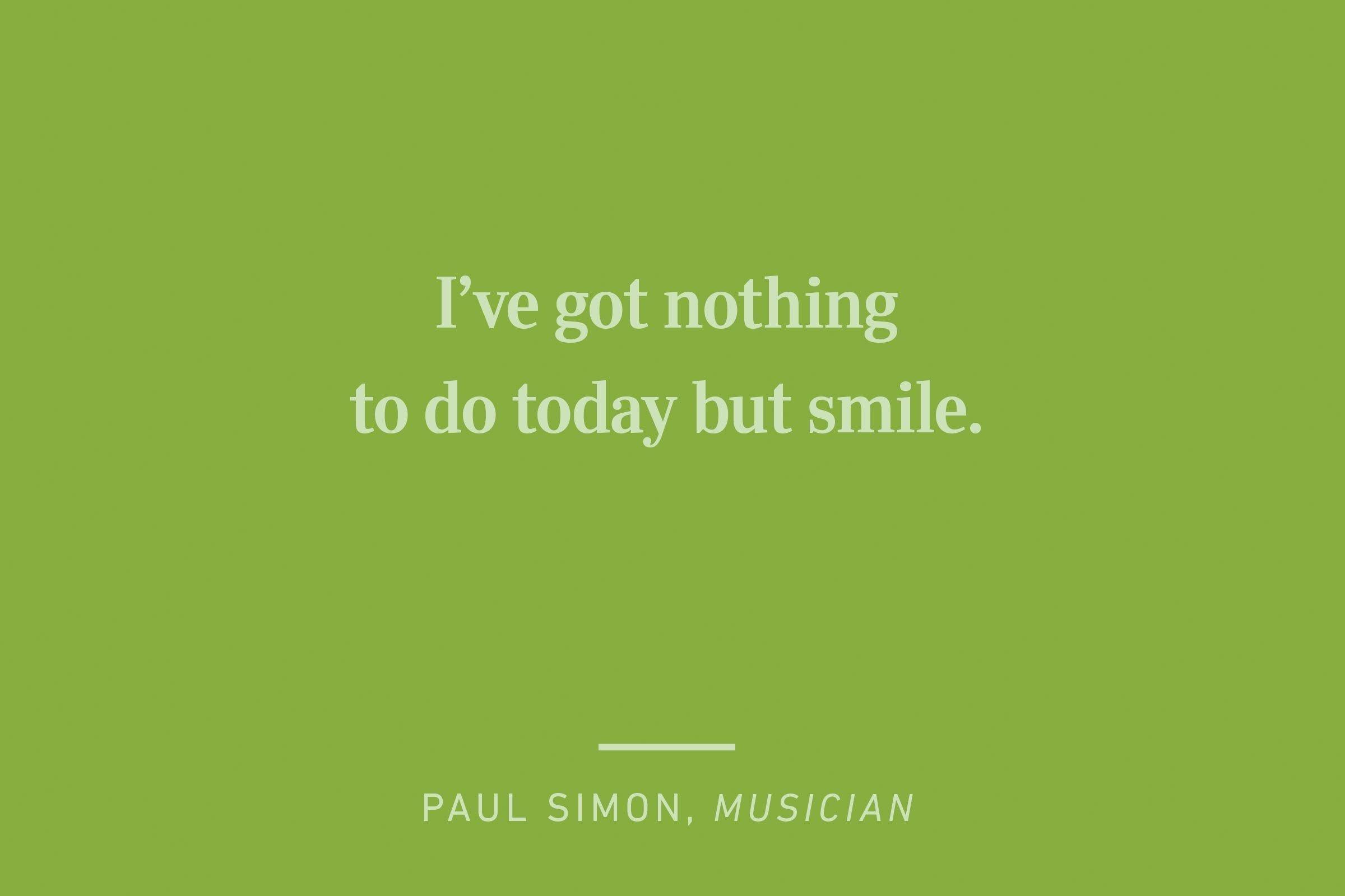 paul simon happiness quote