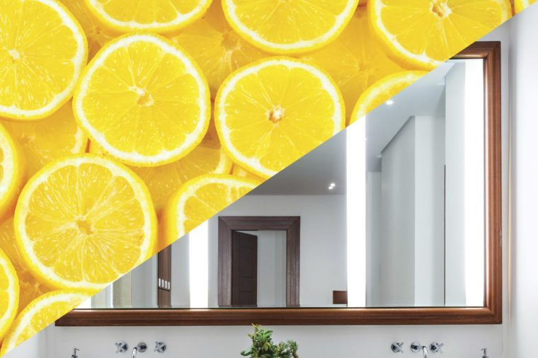 things clean with lemon mirror