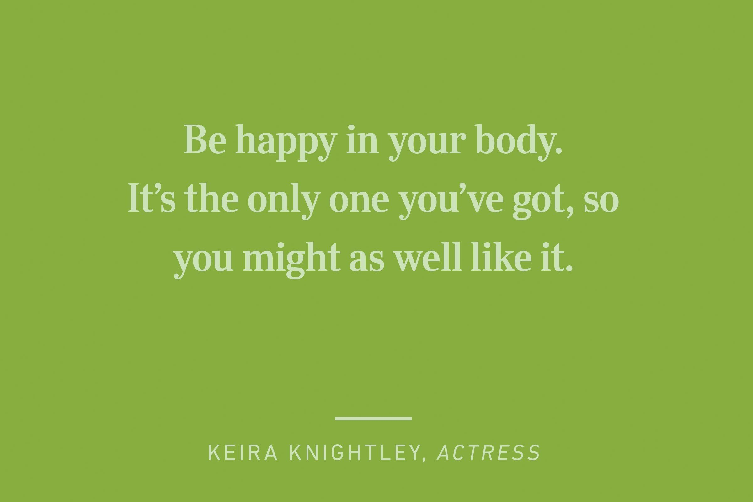 keira knightly happiness quote