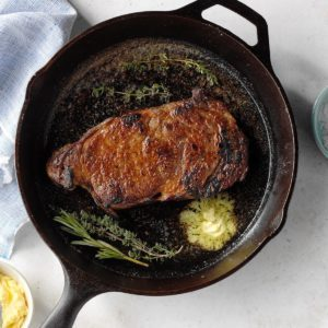 Cast-Iron Skillet Steak