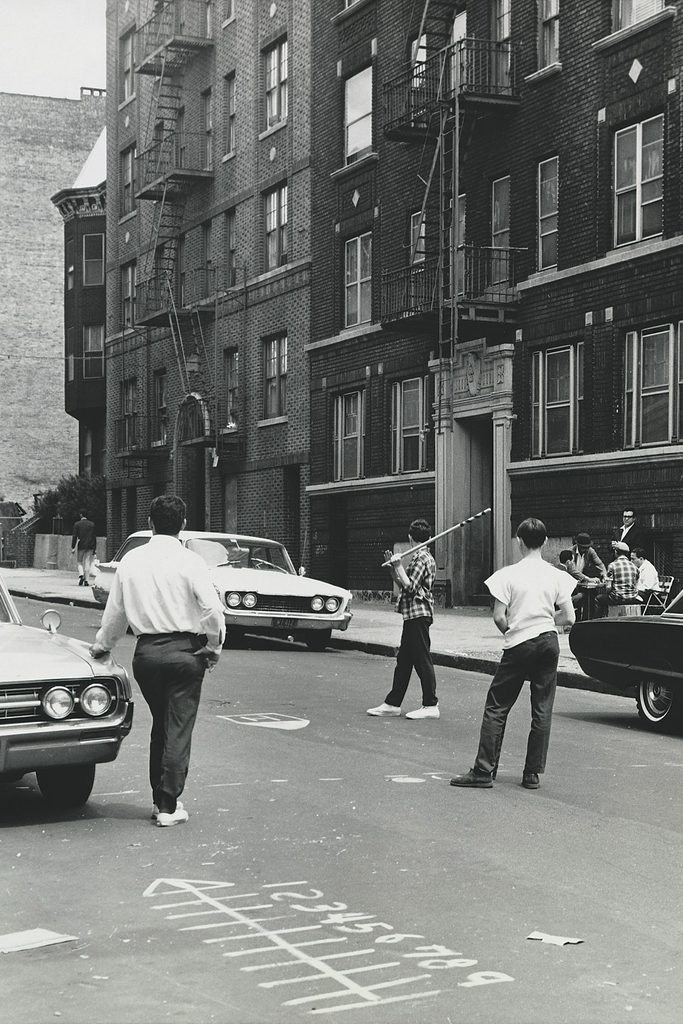 street games playing in street vintage photo